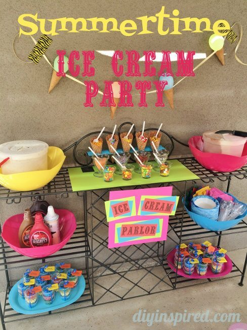 Summertime Ice Cream Party Diy Ideas Diy Inspired