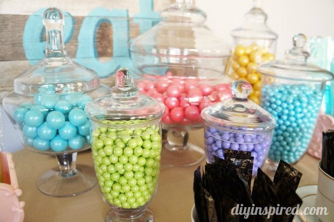 Tea Party Candy Favor Station