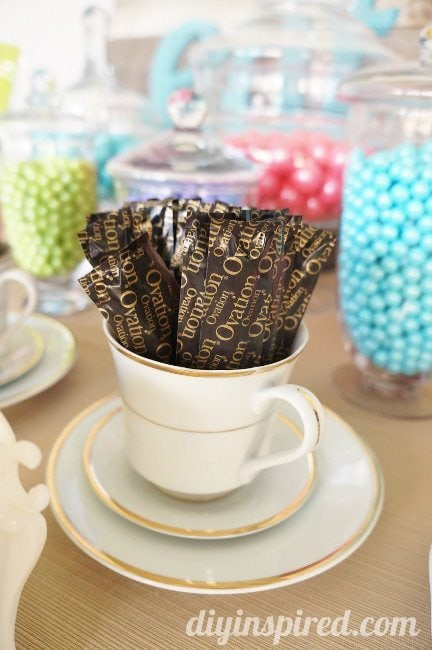 Tea Party Themed Candy Station