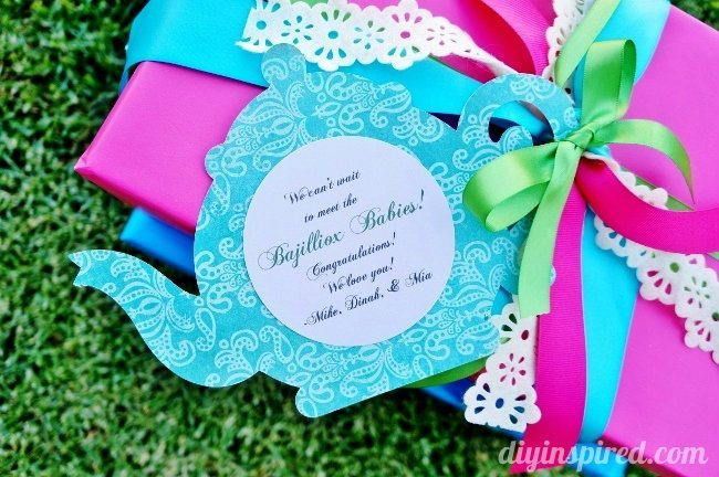 Tea Party Themed Gift Wrapping