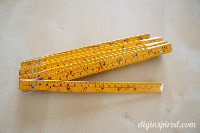 Upcycled Fold Out Ruler