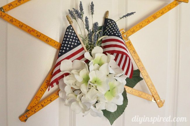 Upcycled Vintage Wooden Ruler Wreath (1)