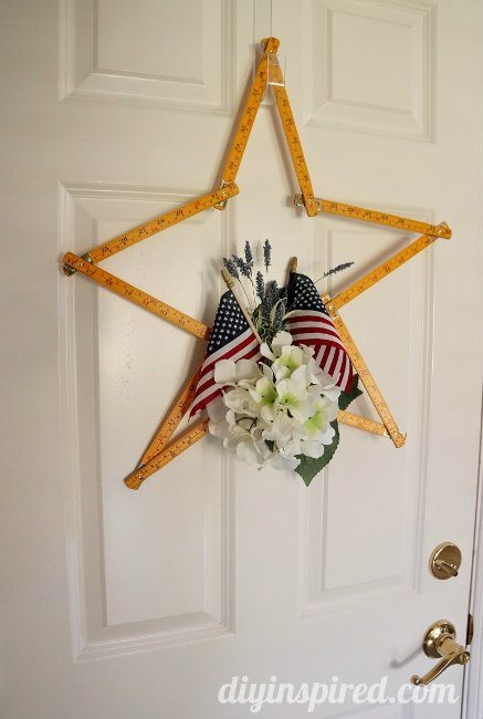 Upcycled Vintage Wooden Ruler Wreath