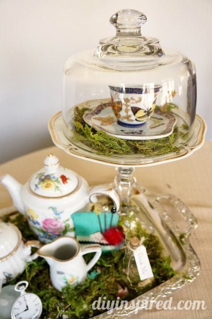 Vintage Mad Hatter Tea Party Centerpieces (2)