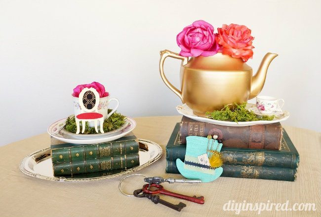 Vintage Mad Hatter Tea Party Centerpieces (3)