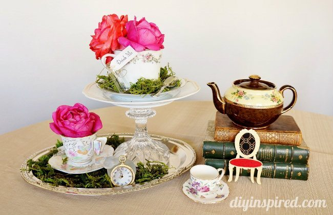 Vintage Mad Hatter Tea Party Centerpieces 4