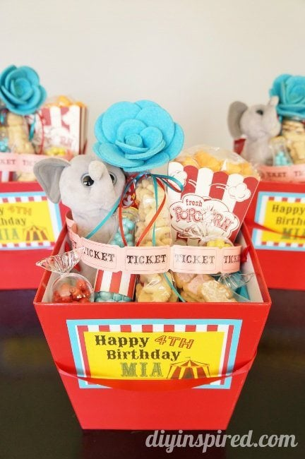 Carnival Themed Party Favors