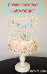 Circus Cupcake Topper DIY