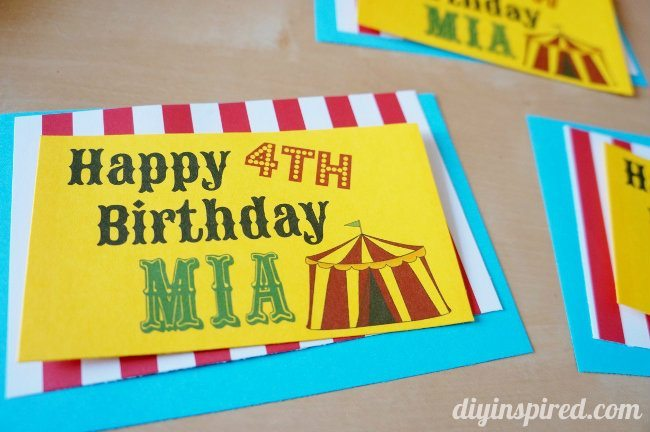 Circus Themed Party Favors (2)