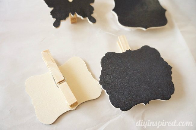 DIY Chalkboard Clothespin Tags Craft Idea