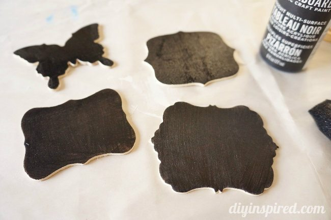 DIY Chalkboard Clothespin Tags Easy