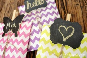 DIY Chalkboard Clothespin Tags How To