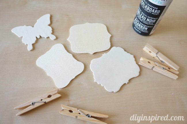 DIY Chalkboard Clothespin Tags