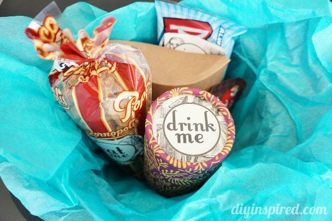 Mad Hatter Top Hat Gift Basket