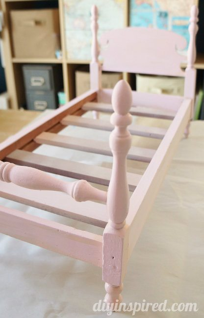 Refurbished Thrift Store Doll Bed Makeover
