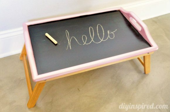 dollar store wooden tray makeover chalkboard activity tray thrift makeover diy inspired 6475