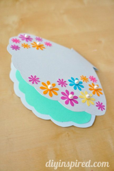 Diy little mermaid card or invitation diy inspired diy little mermaid clam shell card solutioingenieria Image collections