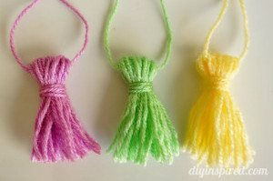 DIY Yarn Tassels Tutorial