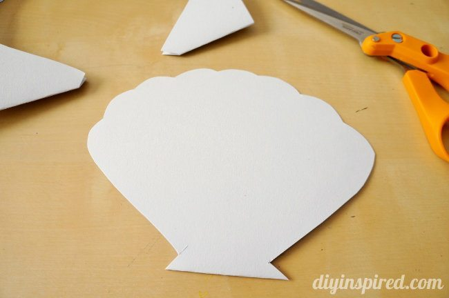 How to make an easy Little Mermaid Clam Shell Card