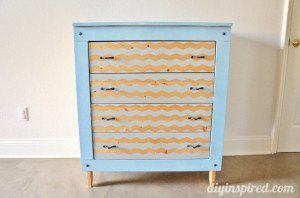 Spray Painted Chevron Dresser