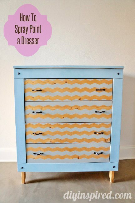 Spray Painted Krylon Dresser