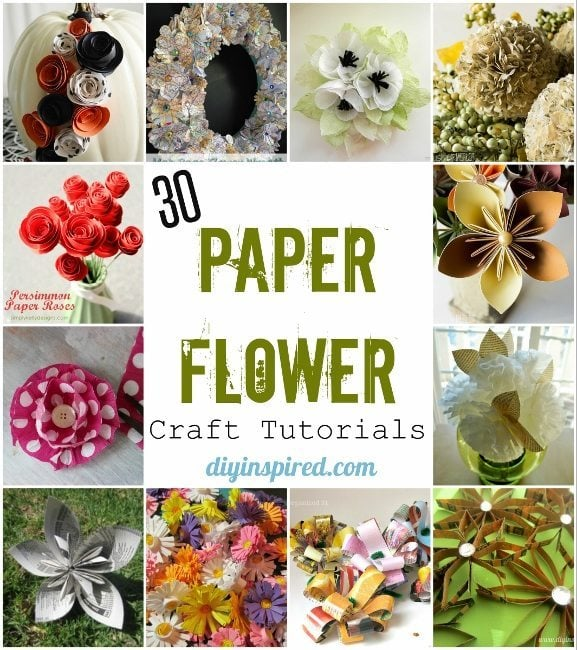 30 Paper Flower Craft Tutorials