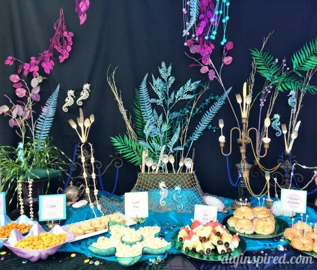 The little mermaid party ideas diy inspired for Ariel decoration