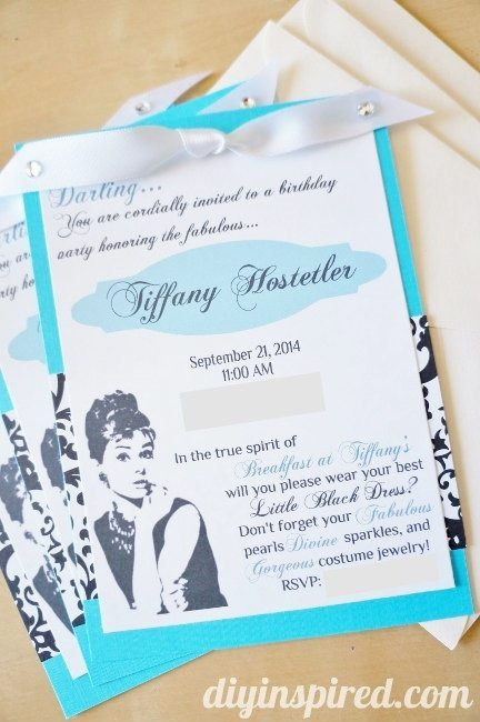 Breakfast at Tiffanys DIY Invitations