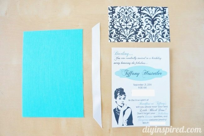 Breakfast at Tiffany's DIY Invitations