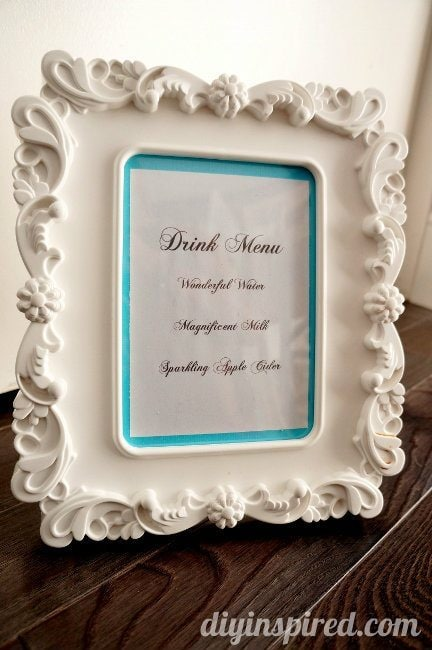 Breakfast at Tiffany's Drink Menu