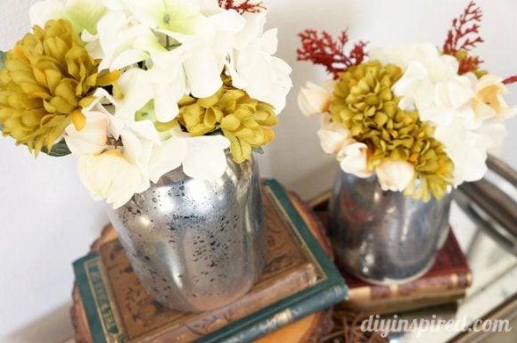 Diy Faux Mercury Glass Thrift Store Vases Diy Inspired