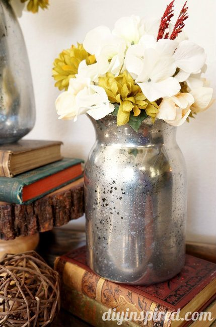 DIY Mercury Glass Vase How To