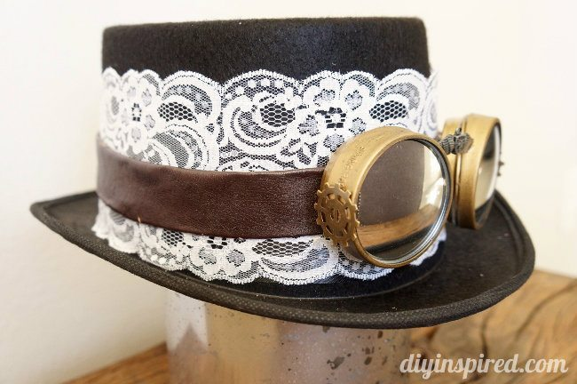DIY Steampunk Top Hat and Goggles - DIY Inspired