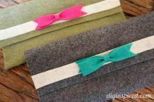 Easy DIY Felt Pencil Cases