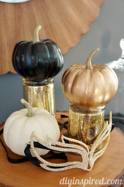 Easy Spray Painted Pumpkins Decoration