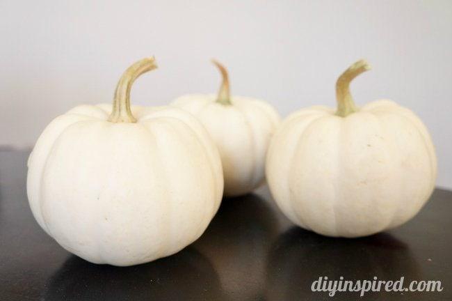 Easy Spray Painted Pumpkins