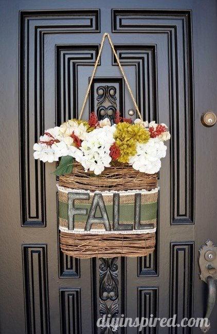 Fall Hanging Wreath DIY