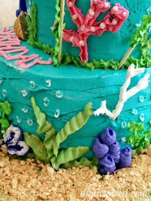 Little Mermaid Cake Details