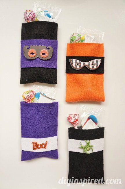 No Sew Halloween Treat Bags Tutorial