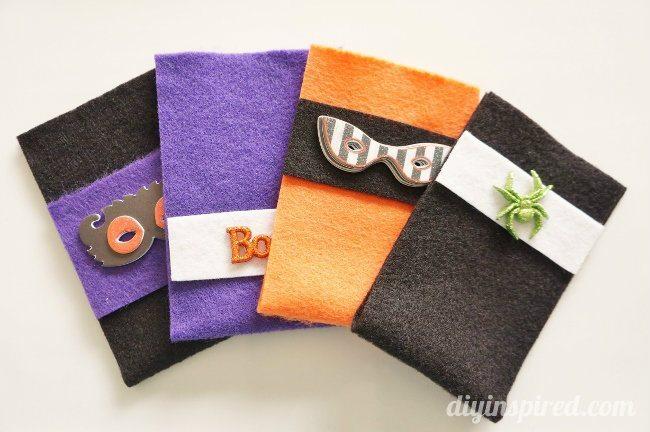 No Sew Halloween Treat Bags with Felt