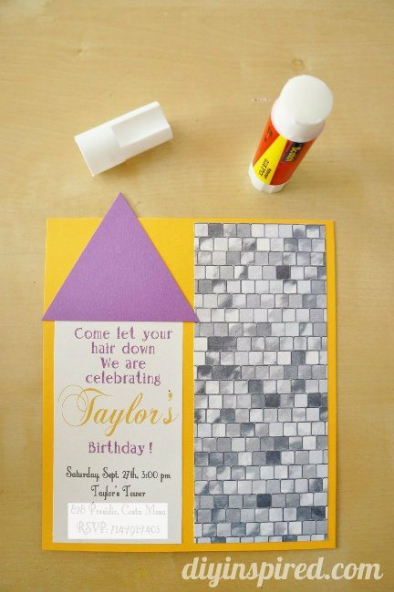 Rapunzel Invitation DIY Castle