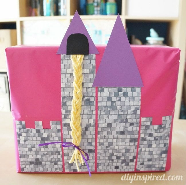 Rapunzel Invitation DIY Gift Wrapping