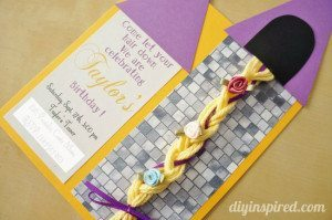 Rapunzel Invitation DIY Handmade
