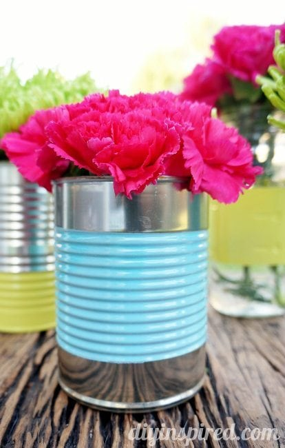 Recycled Can and Mason Jar Centerpiece i