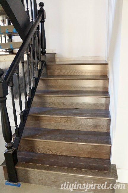 Stair-Remodel wit Pewter Ash Hardwood