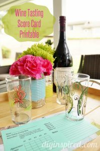 Free printable for a wine tasting party