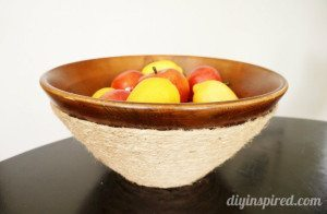 Wooden Rope Bowl DIY