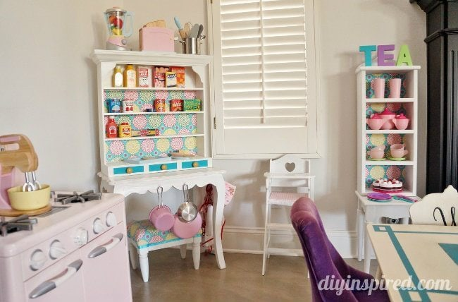 DIY Play Kitchen Hutch From Thrift Store Makeover