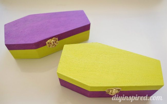 Glittered Coffin Halloween Party Favors