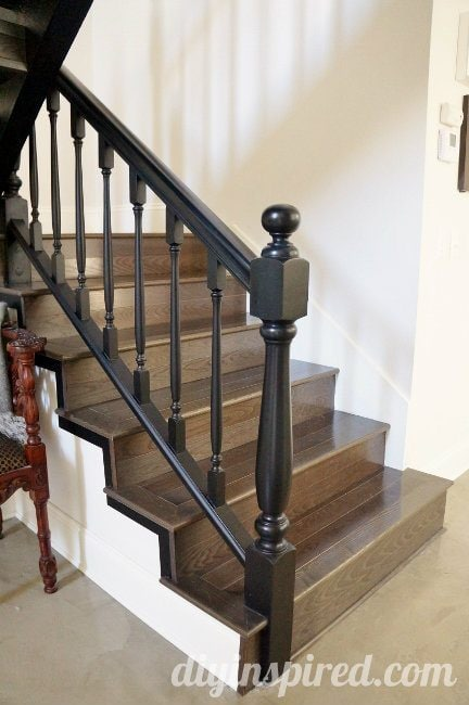 Our staircase makeover before and after diy inspired for Diy staircase makeover